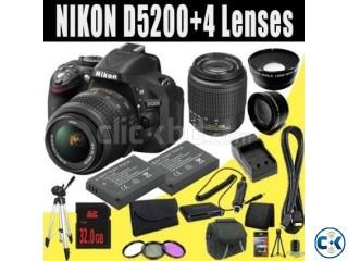 NIKON D5200 CAMERA WITH 18-55VR LENS CAMERA VISION