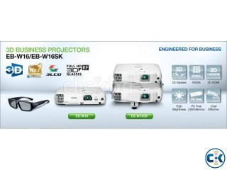 Epson EB-W16SK WXGA Full 3D 3000 ANSI Lumens Business Projec