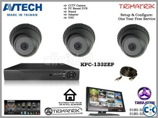 Three CCtv Camera packege For School