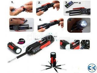Screwdriver with Flashlight 8-in-1