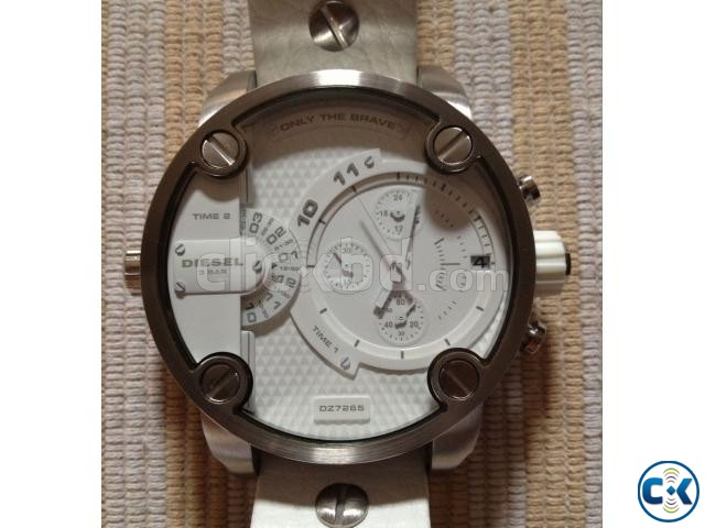 New white Original Chronograph Diesel watch from Germany | ClickBD large image 0