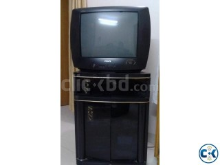 21 Color TV With Tole