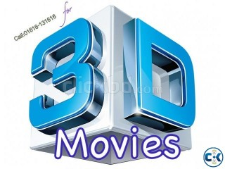 3D Movies for 3D TV Biggest Collection FREE Home Delivery