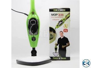 H2O Mop X10 10 in 1 Green Steam Mop As Seen on TV