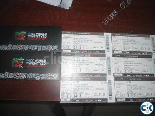 ICC World T20 Ticket Bangladesh vs Afganistan GRANDSTAND tkt