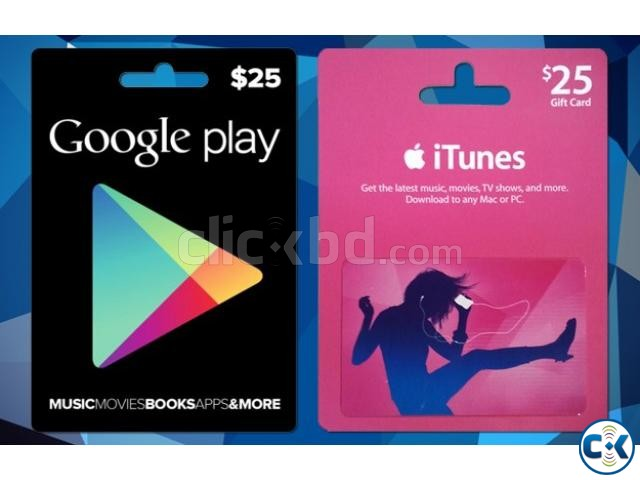 itunes gift card Google play store Microsoft store gift card   ClickBD
