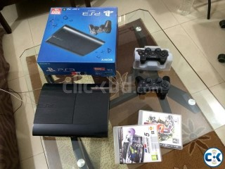 PS3 500GB Super Slim with 10 games