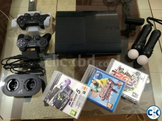 PS3 500GB Super Slim With Move Eye 13 games