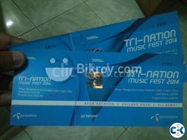 Grameenphone Tri-Nation Concert Tickets CHEAPEST | ClickBD large image 0