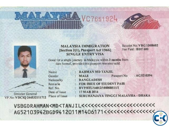 Malaysia Contract Student Visa Airticket Immigration Etc