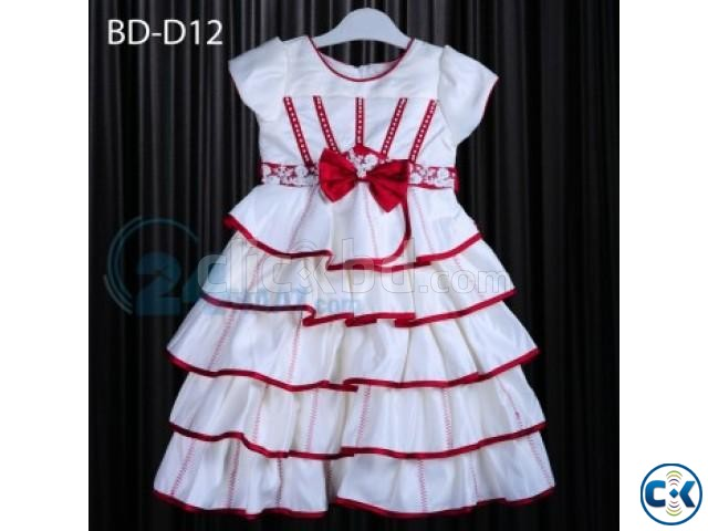 Baby White Black Party Dress | ClickBD large image 0