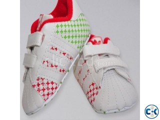Adidas Baby White Red Baby Shoes