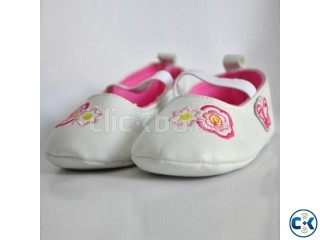 Pink Flower Baby Girl Shoes