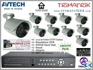 10cctv Camera Package