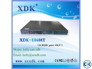 GEPON OLT Equipment 8PON Ports 8 EPON SFP slots 4GE SFP slot