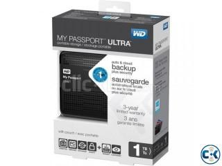 WD 1TB My Passport Ultra Portable Hard Drive (Black) FROM US