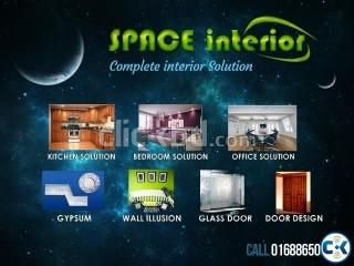 Total Interior Design & Solution_Kitchen Cabinet Gypsum etc.