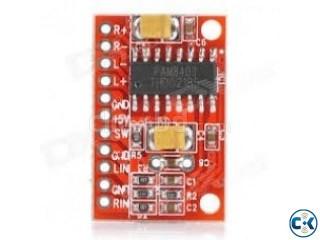 The PAM8403 3W class-D audio amplifier.