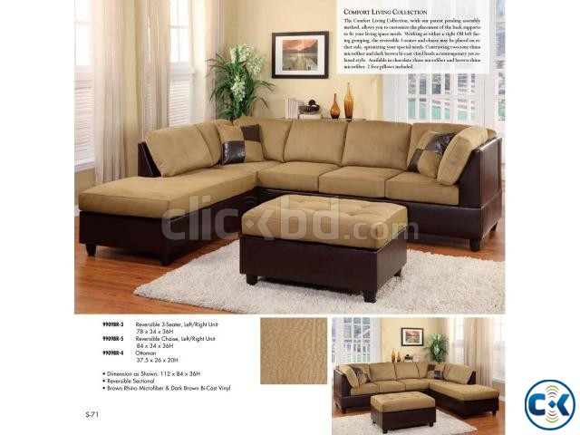 Multi Color Reversible Sectional Sofa ClickBD