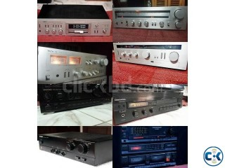 JAPANI STERIO AMPLIFIER S OF DIFFRENT BRAND FREsH.