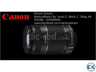 CANON EF-S 55-250mm f 4-5.6 IS Lens .