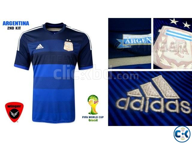 e5092b2f3 Argentina Authentic Soccer Jersey 2014 (Away)