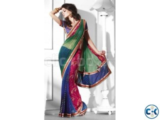 Beautiful Multicolor Saree - Code Moh-Manthan- 2110