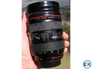Canon EF 24-70 f 2.8L up for sell in very good condition