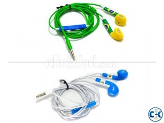 World Cup Flag iPhone Earphone Big Discount Free Flag Offer