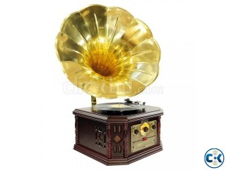 Vintage Phonograph Horn Turntable