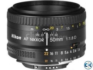 Nikon 50mm prime lens f1.8D