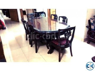 Dining Room Table with 6 Matching Chairs