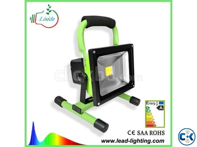 rechargeable portable LED flood light 20W | ClickBD large image 1