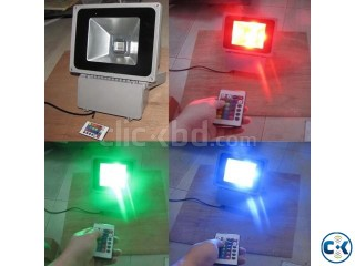 RGB LED flood light 50W