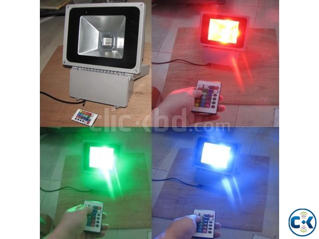 RGB LED flood light 50W | ClickBD large image 0