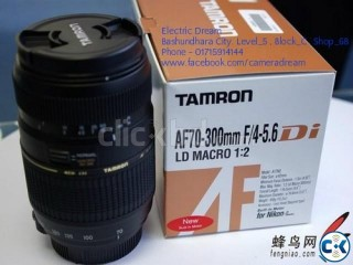 TAMRON AF70-300mm F 4-5.6 Di LD Macro Zoom . ELECTRIC DREAM