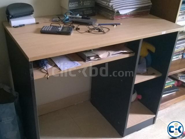 Double Bed Study Table Almira For Sale . Bedroom Furniture | ClickBD Large  Image 2