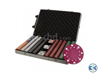 Brybelly 1000Count Suited Poker ChipSet Rolling AluminumCase