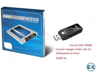 Crucial ssd 240gb Corsair Voyager Slider Pen Drive