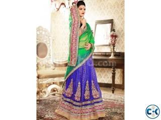 Buy salwar kameez online breezy blue and green lehenga choli