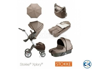 2014 STOKKE XPLORY V4 NEWBORN COMPLETE STROLLER