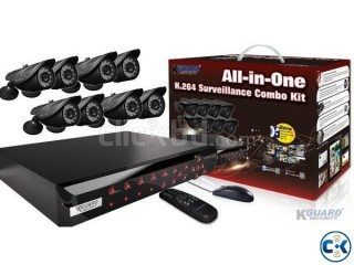 Kguard NS801 8 Channel DVR 8 CC Camera