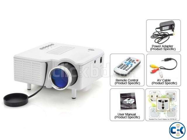 Mini led projector portimax ii clickbd for Small powerful projector