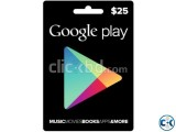 Gift Card - iTunes Google Play Facebook XBox Live