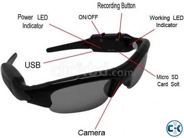 Spy Camera Sunglasses New  | ClickBD large image 3