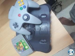 Original Classic N64 With Super Mario 64 Casset