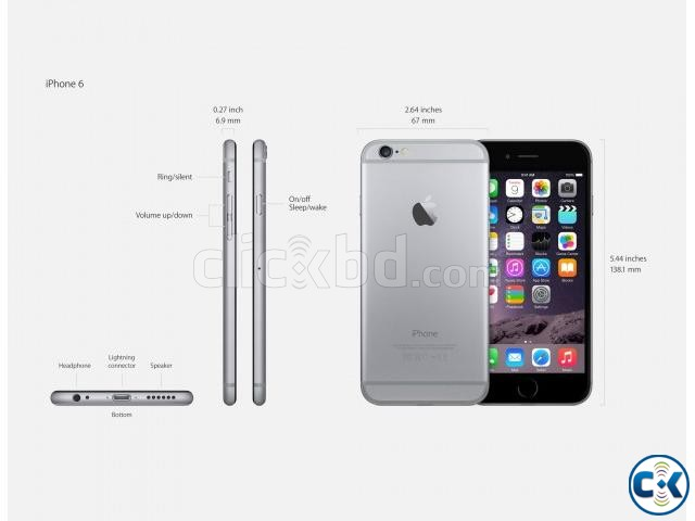 Apple iPhone 6 factory unlocked | ClickBD large image 0