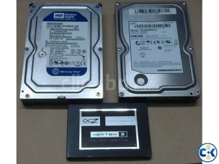 Hard Disk Drive HDD and Solid State Drive SSD