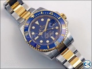 Rolex submeriner gold-blue replica watch with box warranty