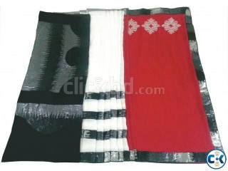 Gorgeous Red White and Black Georgette Saree